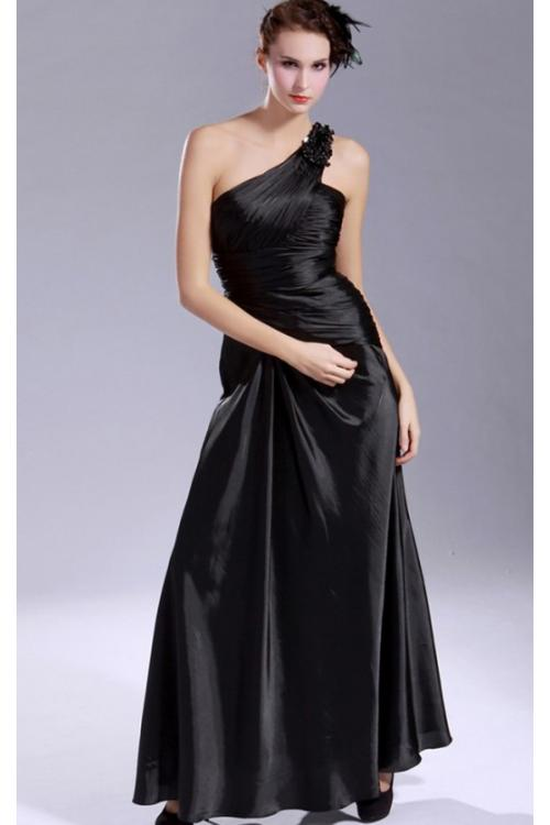 Taffeta Backless A-line Floor-length One Shoulder Bridesmaid Dresses