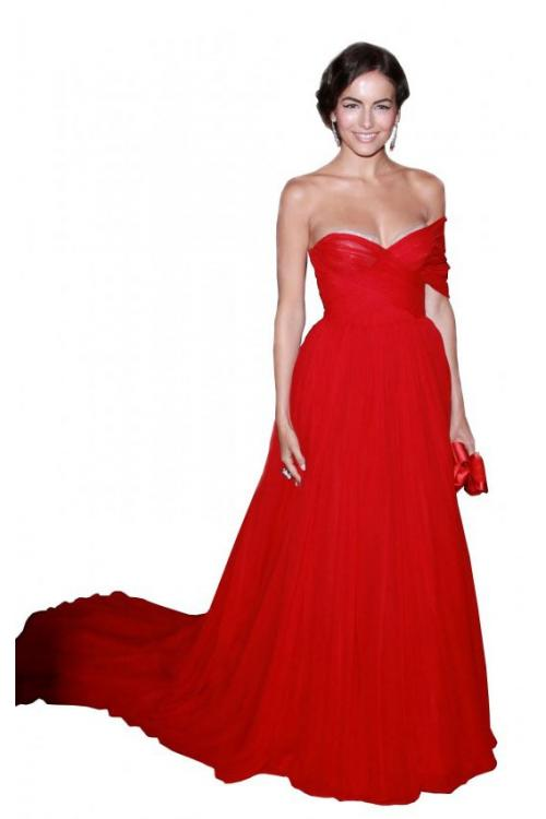 Floor-length One Sleeve Pleated Chiffon Long Prom Dresses
