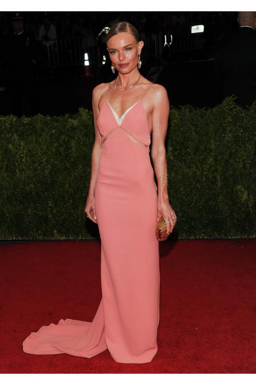 Sexy Kate Bosworth Backless Spaghetti Straps Long Watermelon Jersey Prom Dress