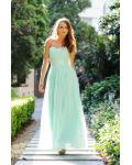 Mint Green Long Sequins Lace A-line Junior Prom Dress