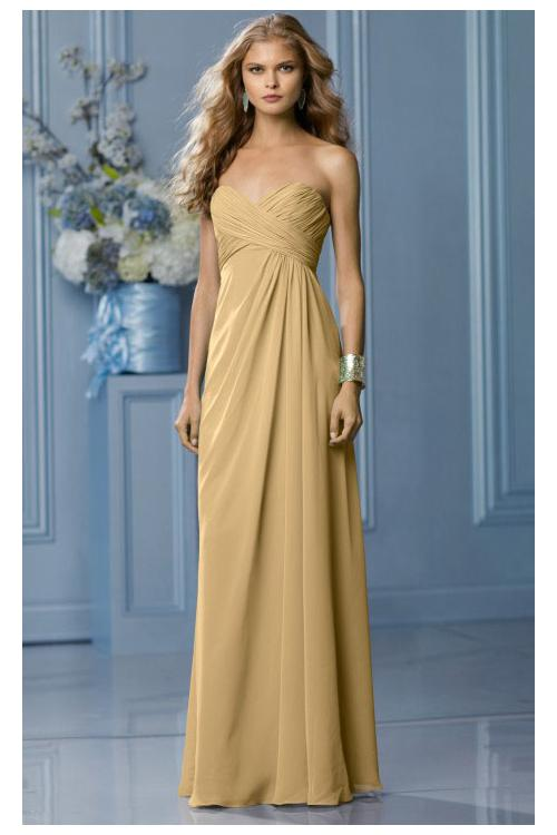 Zipper Sleeveless Floor-length Natural Sweetheart Bridesmaid Dresses