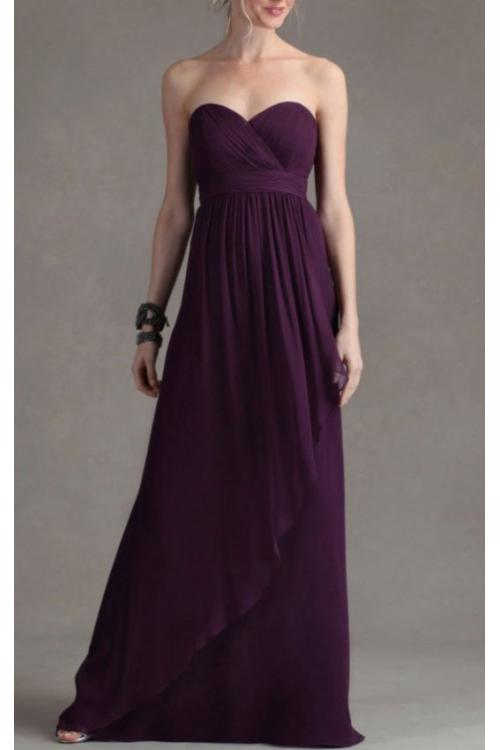 Sheath Sleeveless Empire Sweetheart Chiffon Bridesmaid Dresses