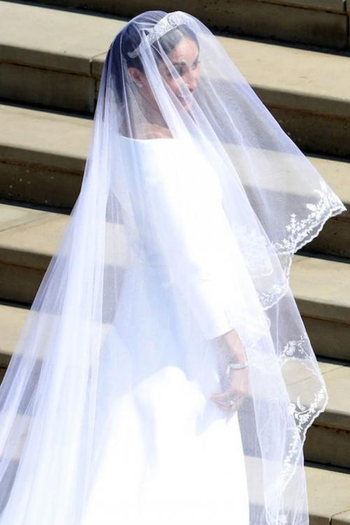 Cathedral Train Long Meghan Tulle Wedding Veils