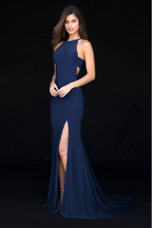 Chic Modern High Slit Long Jersey Prom Dress