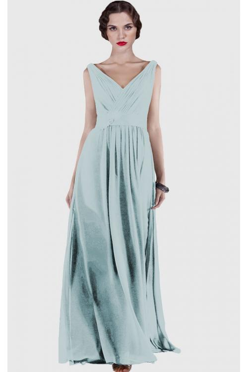 None Natural Chiffon Floor-length A-line Bridesmaid Dresses