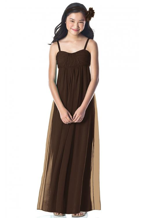 Chiffon Sleeveless Floor-length Spaghetti Straps A-line Bridesmaid Dresses