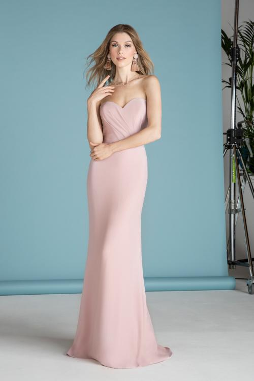Sweetheart Pleated Long Blush Chiffon Bridesmaid Dress Boho Chic