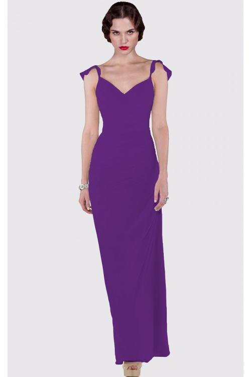 Zipper Sheath Cap Sleeves Floor-length Dropped Bridesmaid Dresses