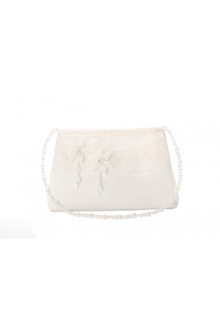 Quality White Bags With Pearl Belt