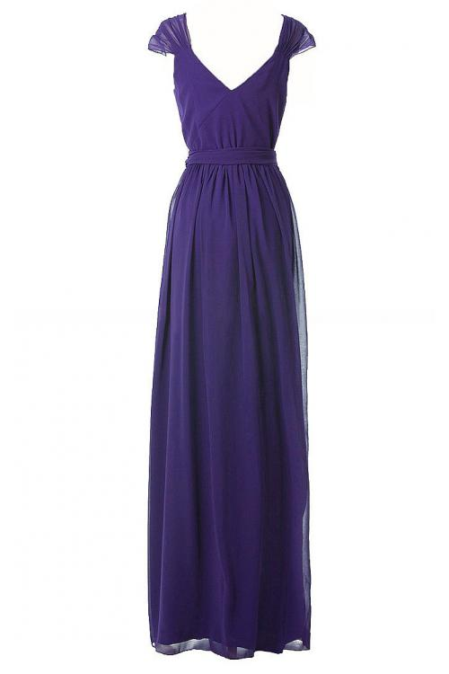 A-line Natural Chiffon Floor-length Rustic Bridesmaid Dresses