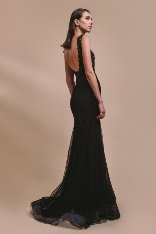 Sheath/Column Bateau Neckline Sleeveless Lace Appliques Beading &Sequins Top Floor-length Long tulle Evening Dresses with Criss-cross Decoration Skirt