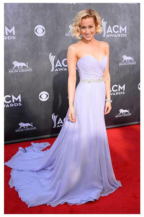 kellie pickler 2014 academy country music awards inspired Chiffon Long Prom Dress