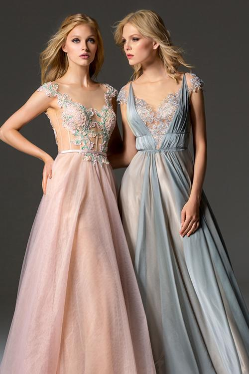 A-line Bateau Neckline Cap Sleeves Buttons Lace Floor-length Long Chiffon Prom Dresses