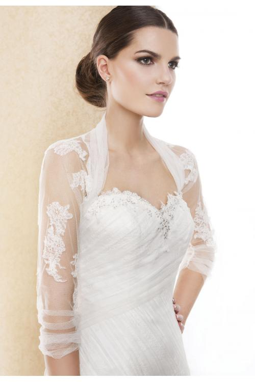 Charming 3/4 Length Sleeve Lace Wedding Jackets