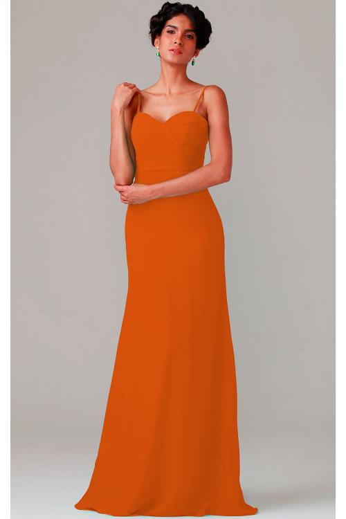 A-line Natural Sweetheart Chiffon None Bridesmaid Dresses