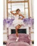 Ivory A-line Spaghetti Straps Sleeveless Short/Mini Short Wedding Dresses with Three Tiers of the Skirt