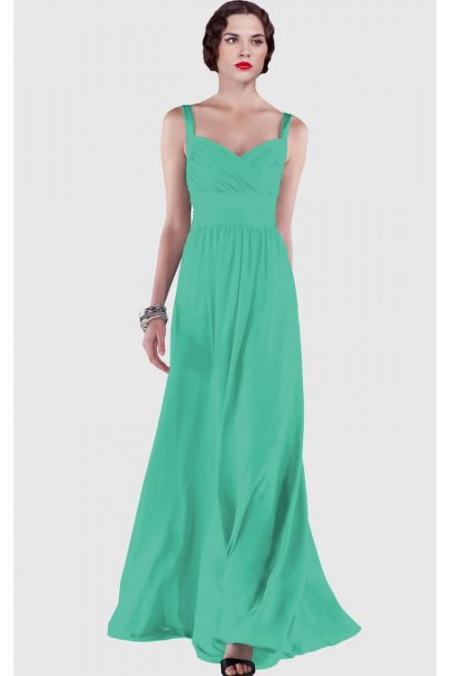 A-line Sleeveless Floor-length Sweetheart Chiffon Bridesmaid Dresses