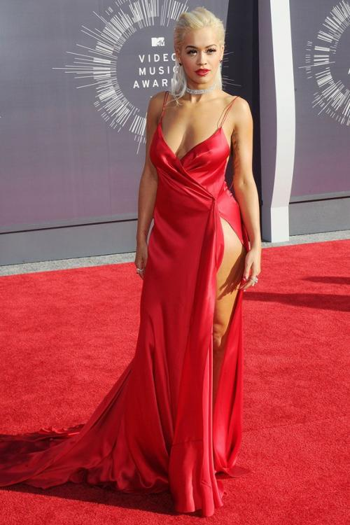 Sexy Backless Split High Thigh Long Satin Red Prom Dress