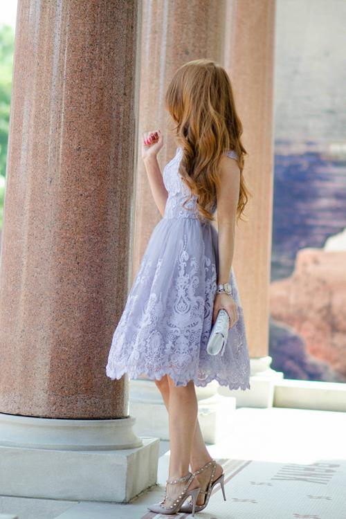 A-line Bateau Cap Sleeve Lace Knee-length Short Prom Dress