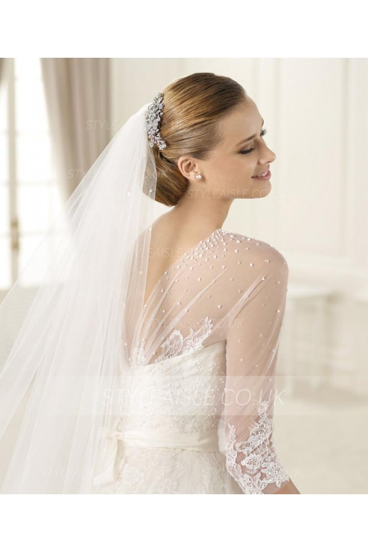 Honorable One Tier Tulle Wedding Veils