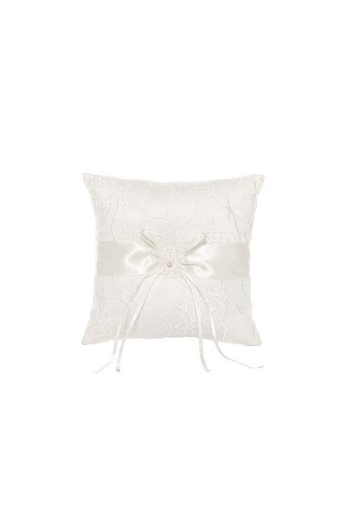 Ivory Ring Bearer Pillows With Embroider And Sequins 21*21CM