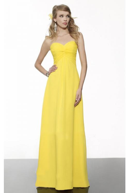Zipper A-line Chiffon Empire Floor-length Bridesmaid Dresses