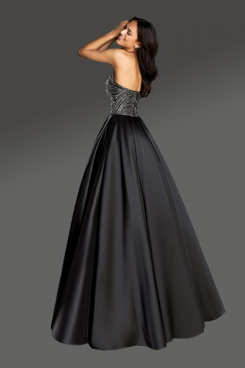 A-line Sweetheart Sleeveless Beading Bodice Floor-length Long Satin Cocktail Dresses