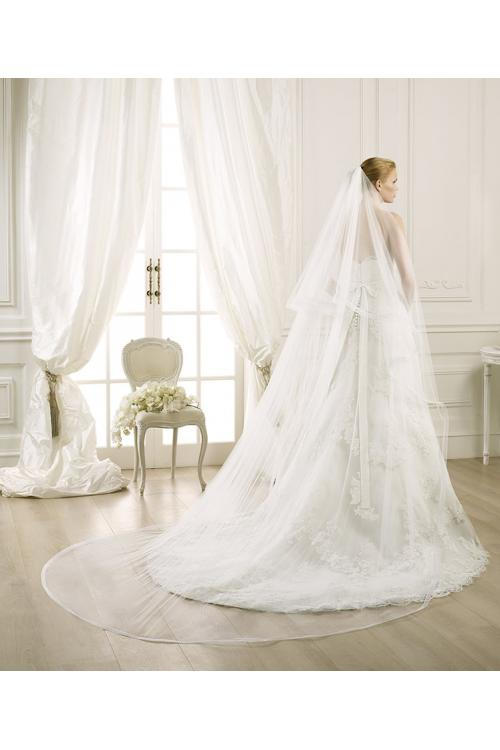 Simple Two Tiers Tulle Wedding Veils