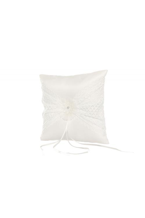 Delicate Wedding Rings Pillows Ivory 21*21CM