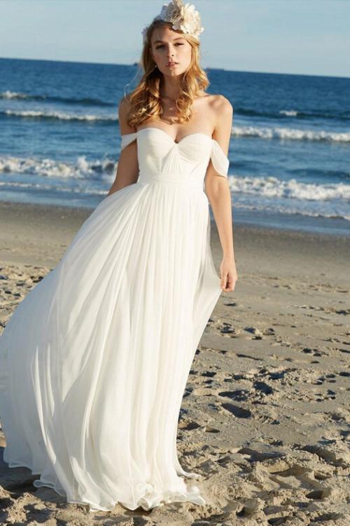 Vintage Beach Empire Waist Wedding Dress