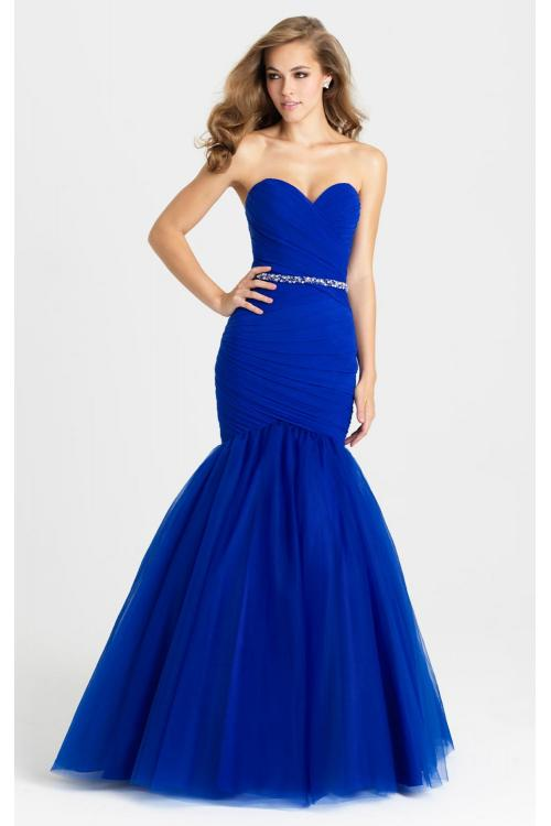 trumpet/mermaid strapless beading sequins floor-length tulle evening dresses