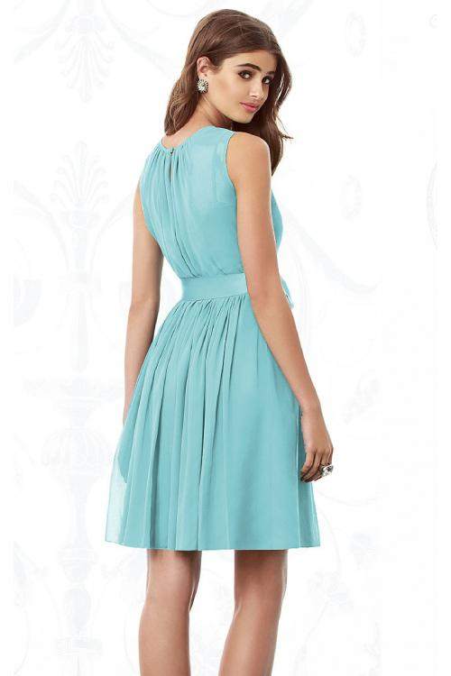 Sleeveless Jewel Knee-length None Chiffon Bridesmaid Dresses