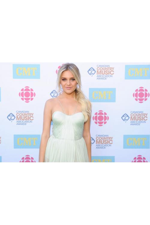 Kelsea Ballerini Country Music Awards Long Split Sage Chiffon Prom Dress