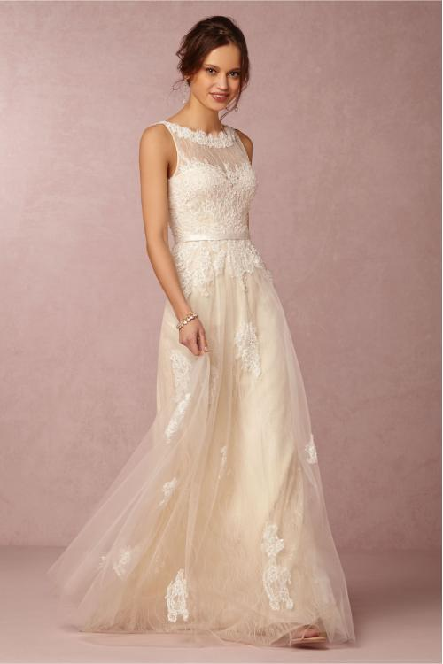 Sleeveless Illusion Bateau Neck Lace Bodice Frorla Lace Patterns Tulle Wedding Dress