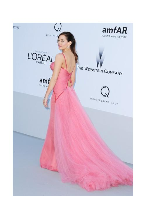 Spaghetti Straps Tulle Mcgowan Red Carpet Watermelon Tulle Prom Dress