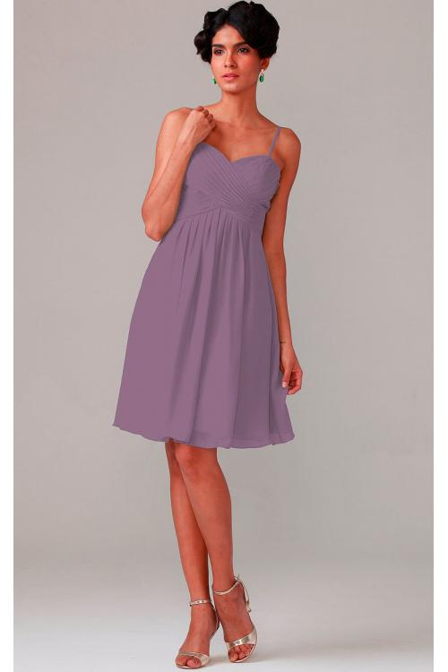 A-line Knee-length Chiffon Zipper Sleeveless Bridesmaid Dresses