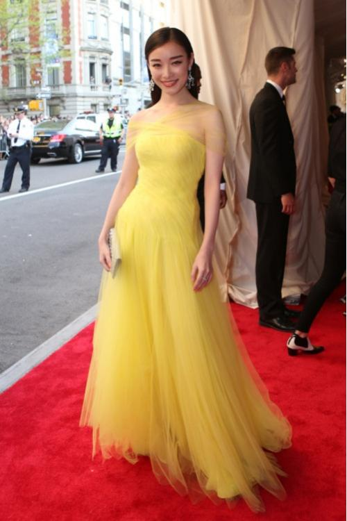 A-line One Shoulder Met Gala 2016 Inspired Yellow Prom Dress