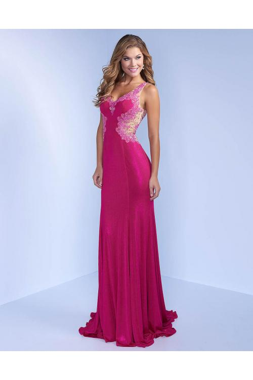 Sheath Jewel Sleeveless Beading Split Floor-length Long Chiffon Evening Dress