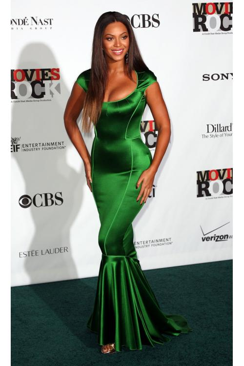 Celebrity Designer Shoulder Straps Mermaid Emerald Satin Zipper Back Prom Dress