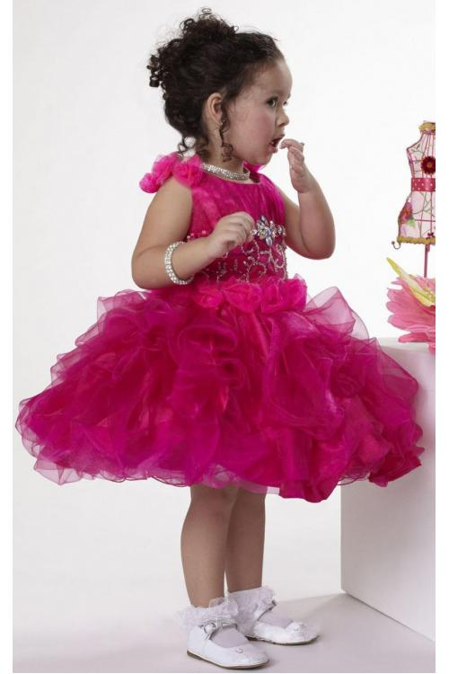 Sleeveless Natural Knee-length Shoulder Straps Ball Gown Flower Girl Dresses