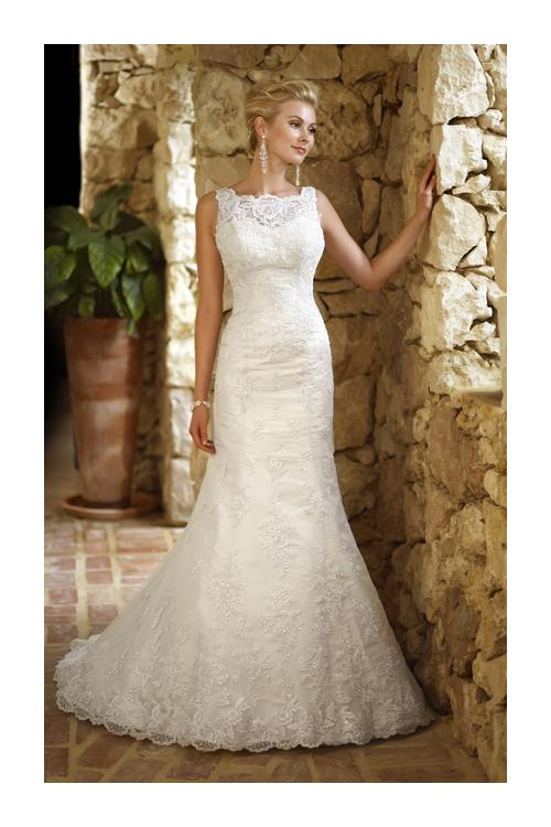 Sexy Trumpet/Mermaid Straps Beading&Sequins Lace Sweep/Brush Train Tulle Wedding Dresses