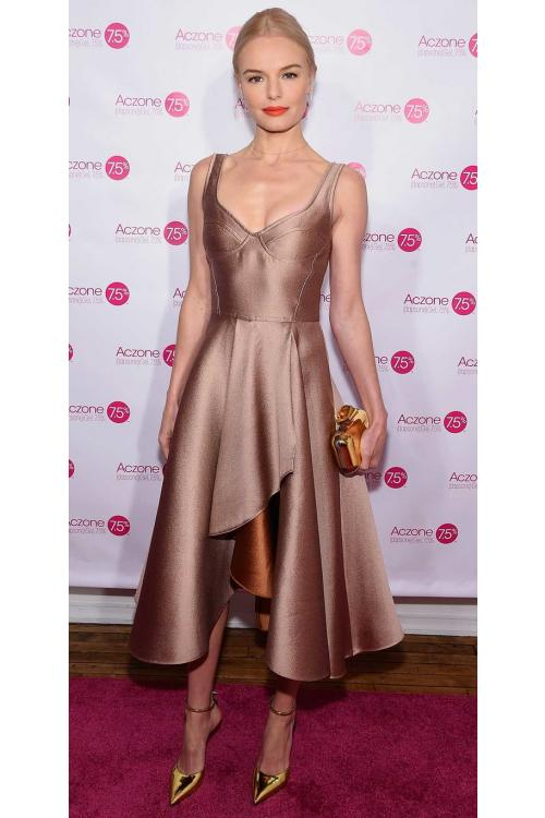Short Tea Length Shoulder Straps Slit Front Brown Satin Prom Dress