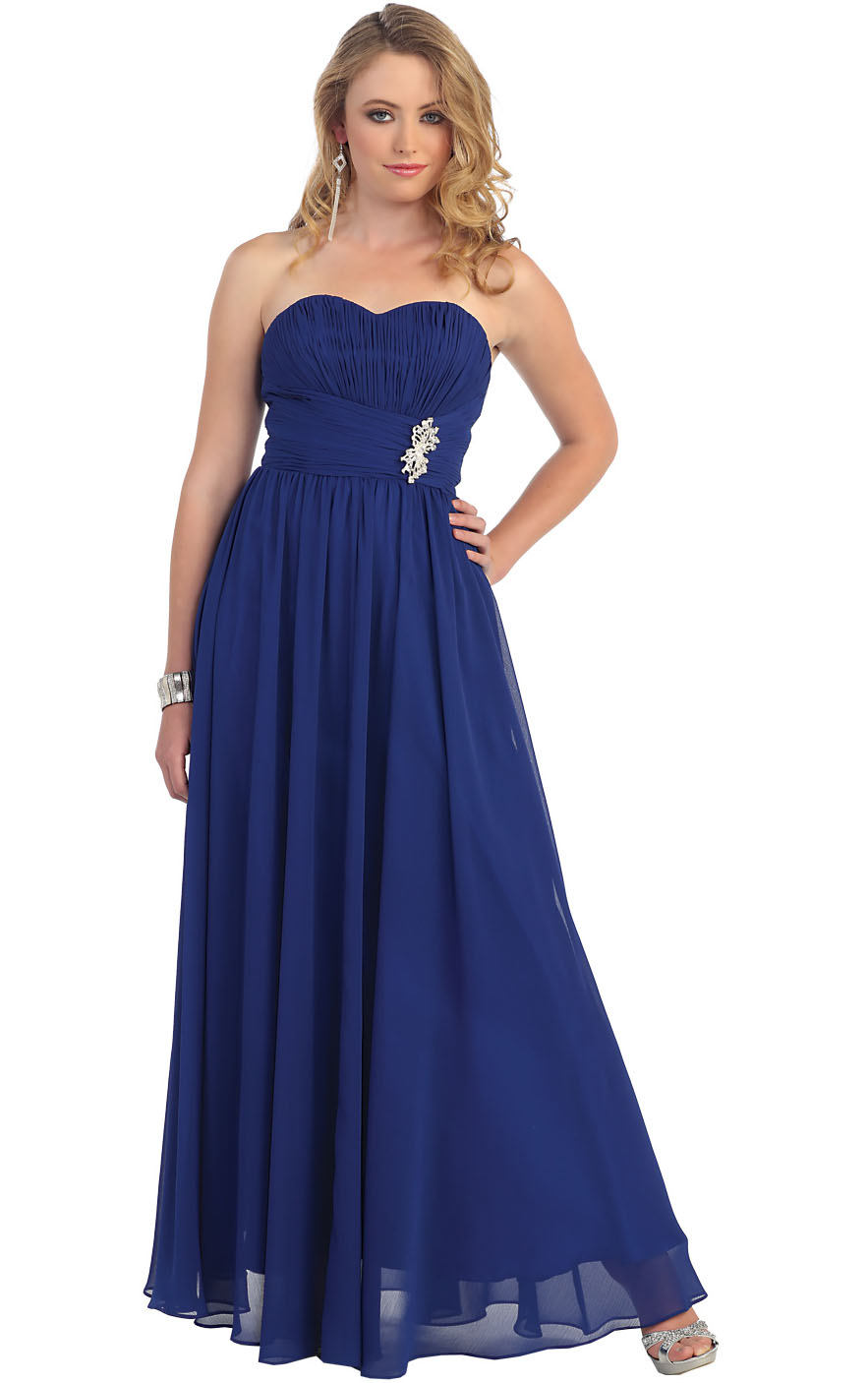 Zipper Empire Sleeveless Sweetheart Floor-length Bridesmaid Dresses