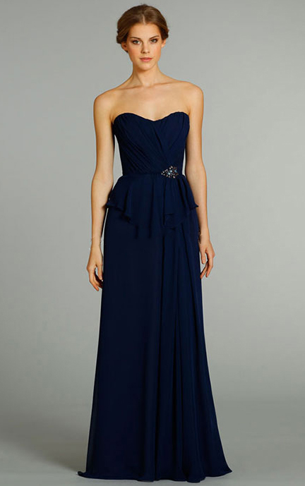 A-line Floor-length Sweetheart Chiffon Natural Bridesmaid Dresses