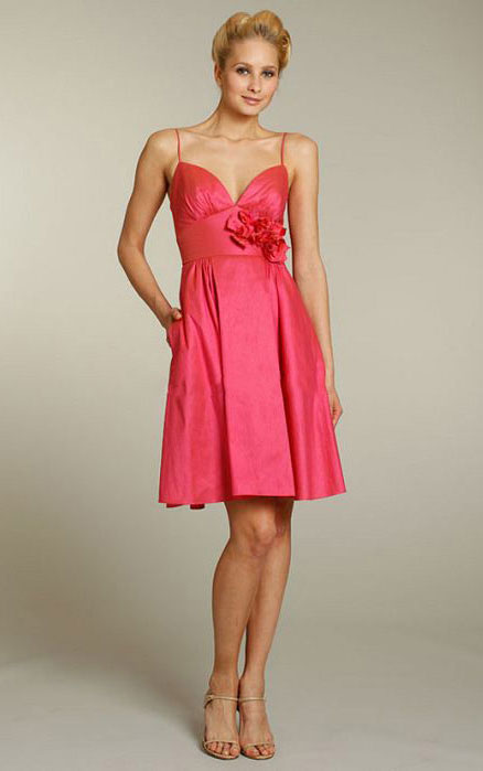 Natural Knee-length Zipper Sleeveless Taffeta Bridesmaid Dresses