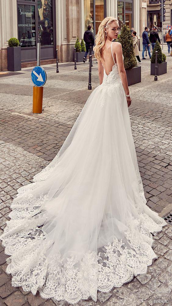 Beach Wedding Dresses 2017 Guest : Backless lace tulle overlay chiffon long beach wedding dress