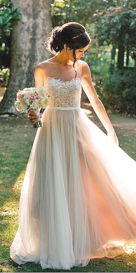 Wedding Dress Yellow Ribbon Cheap Wedding Dresses