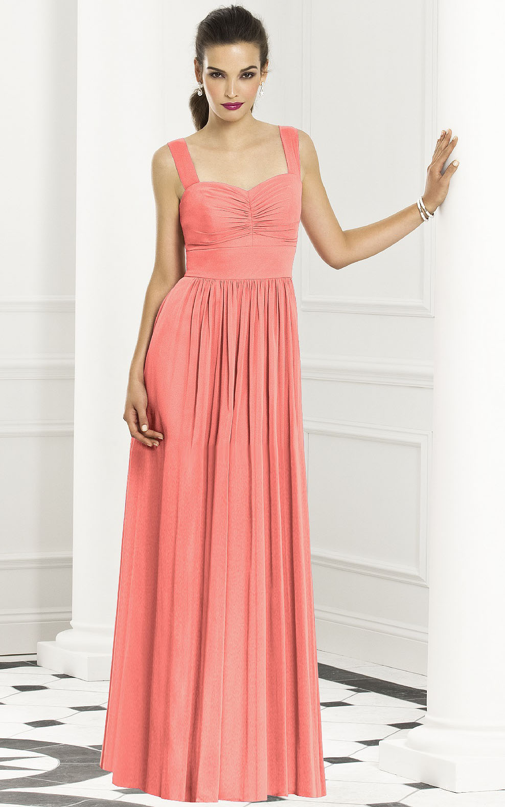 Floor-length Empire Zipper Chiffon Sleeveless Bridesmaid Dresses
