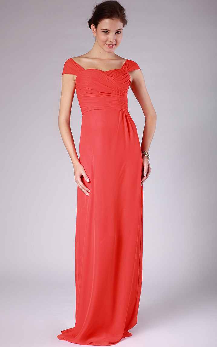 Sweetheart A-line None Floor-length Chiffon Bridesmaid Dresses