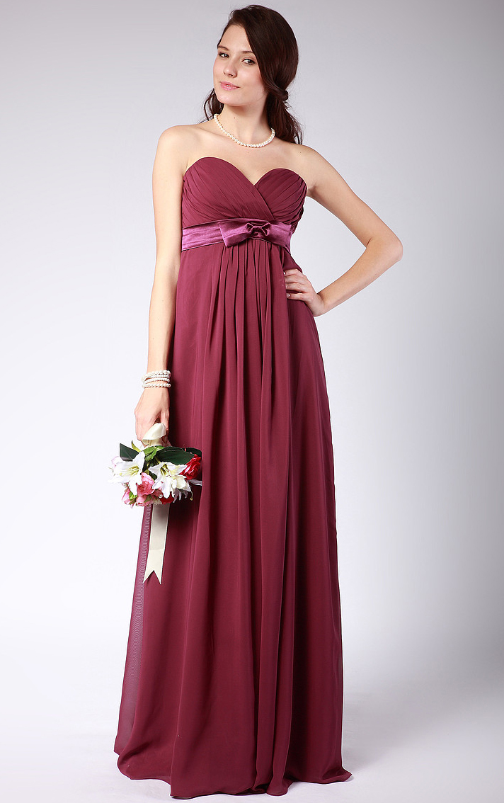 Natural A-line Chiffon Floor-length Zipper Bridesmaid Dresses